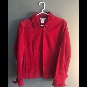 ❤️2 for $40❤️Red Suede Coldwater Creek Jacket